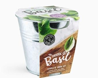 Basil Grow Kit - Organic Grow Your Own Herb Kit - Vegetable Gardening Grow Your Own Food