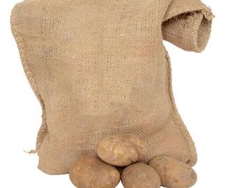 USA Seller - Large Potato Storage Bag - Jute Burlap Storage Bag - Grain Storage - Garlic Onions - Dry Goods Storage