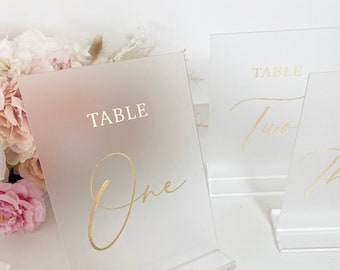 FROSTED PERSPEX Table Numbers- Perspex- Acrylic- Perspex Table Numbers- wedding table numbers