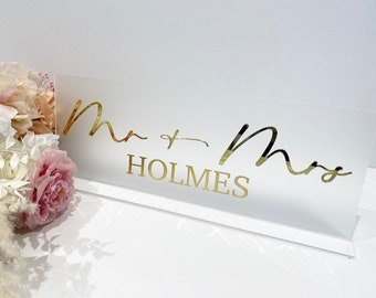 3D Top Table Sign- Mr & Mrs Sign- Wedding Top Table Sign/ Wedding sign- Perspex Wedding Sign- Frosted