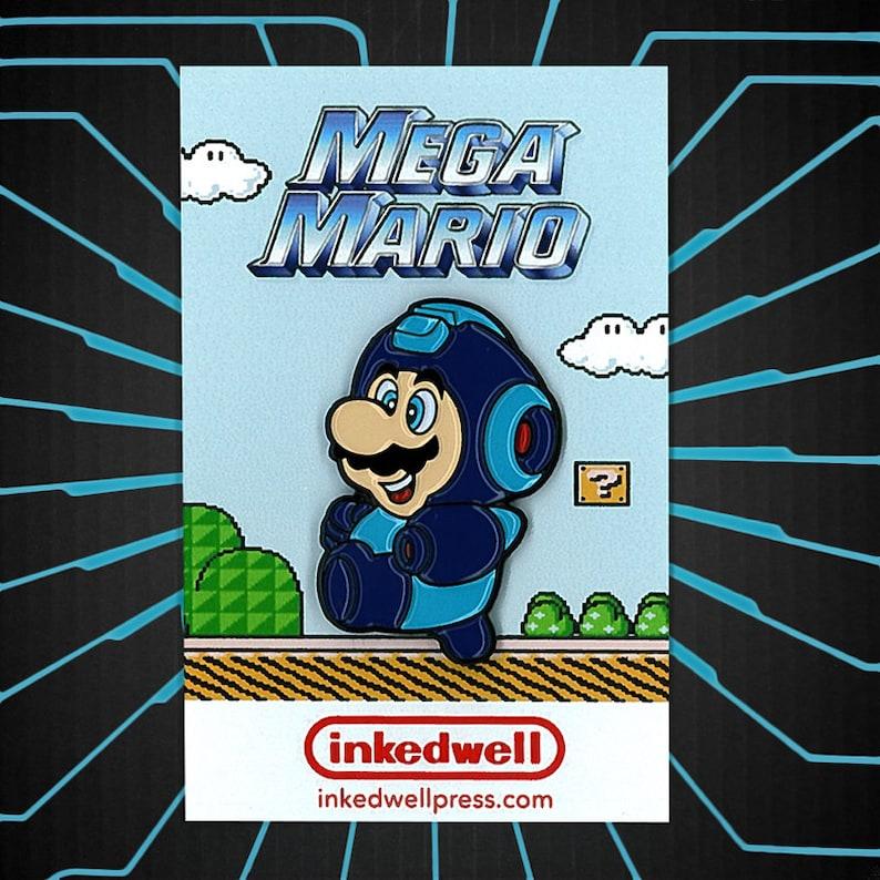 Mega Mario Nintendo x Capcom Enamel Pin image 0