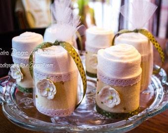 Shabby Chic Baby Shower -  Shabby Chic Diper Cake - Cloth Diaper - Mini Diaper Cake - Cupcakes - Baby Shower Decoration