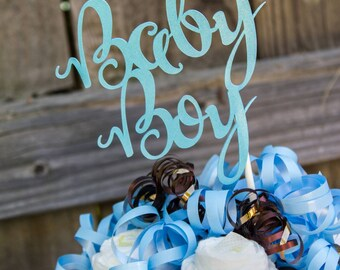 Baby Boy Cake Topper - Baby Boy Topper - Baby Shower - Cake Topper - Its A Boy