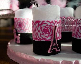 Paris Baby Shower - Paris Diaper Cake - Paris Shower Theme -  Paris Baby Shower Gift - Baby Shower Decoration