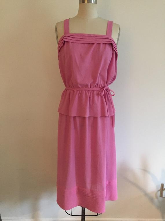 Pink Silk Top and Skirt Set