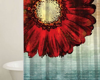 Sunflower Shower Curtain Set, Shower Stall Curtain, Custom Curtain, Sunflower Curtain, Bathroom Decor, Extra Long Curtain Available, Flowers