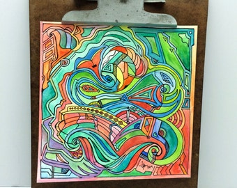 Original Artist Watercolor Painting. Signed by the Artist. Abstract and Organic Watercolor Painting. One of a kind piece of art.