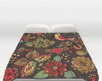 Custom Bedding, Custom Duvet Covers, Butterfly Duvet, Duvet Pillow Set, Queen Duvet Cover, King Duvet Cover, Twin Duvet Cover