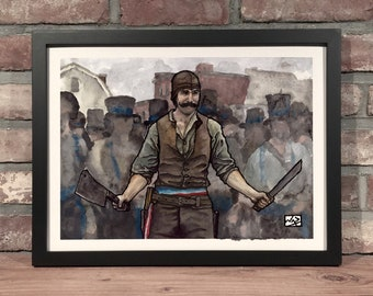 Art Print // BILL THE BUTCHER Gangs of New York - Gouache & Pen and Ink