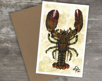 Greeting Card // LOBSTER