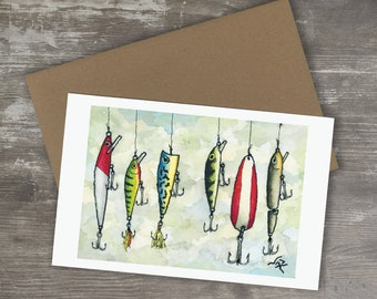 Greeting Card // FISHING LURES