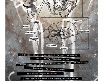 Art Print // ANATOMY of INTERNAL VIEWING - Mixed Media