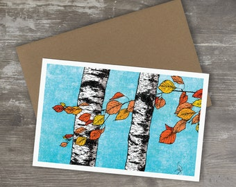 Greeting Card // BIRCH TREES