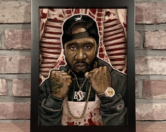 Art Print // BENNY THE BUTCHER  // Oil Painting