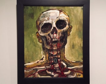 Original Painting // SKULL PORTRAIT - Oil on Canvas
