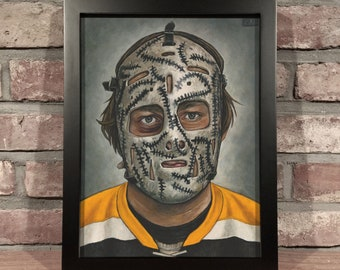Art Print // GERRY CHEEVERS MASK - Oil Painting [Boston Bruins, Original 6, Nhl]