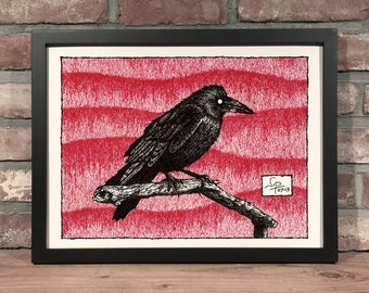 Art Print // CROW - Pen & Ink