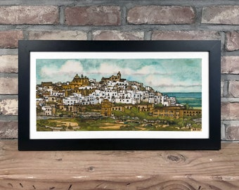 Art Print // PUGLIA, ITALY - Ink and Watercolor