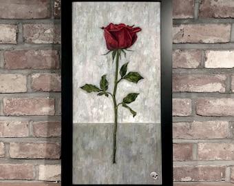 Art Print // ROSE - Oil on Panel