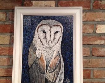 Original Painting // OWL - Acrylic