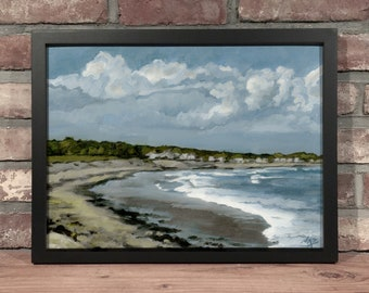 Art Print // RYE BEACH, NH - Oil Painting