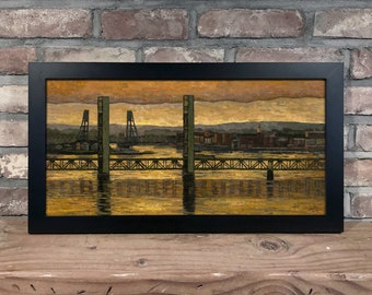 Art Print // PORTSMOUTH NH - Oil on Canvas