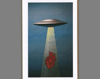 Greeting Card // You Abducted My Heart - (Valentines Day, Love, UFO, Aliens)