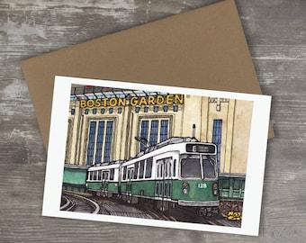 Greeting Card // BOSTON GARDEN - Boston Bruins Boston Celtics