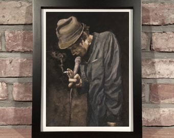 Art Print // TOM WAITS - Gouache