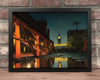 Art Print // LAWRENCE MA - Oil Painting