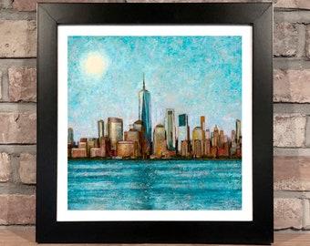 Art Print // SUMMER IN NYC - Oil Painting (Termanology, Statik Selektah, 1982)