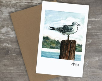 Greeting Card // SEAGULL