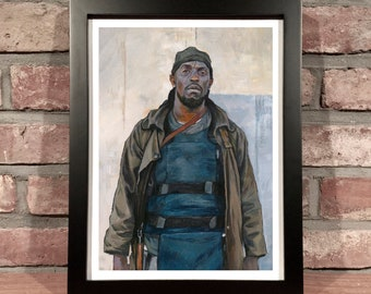 Art Print // OMAR LITTLE, Michael K. Williams (The Wire, HBO) - Oil Painting