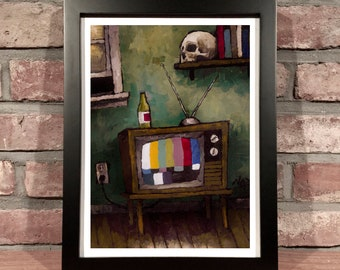 Art Print // TV CASUALTY - Oil Painting