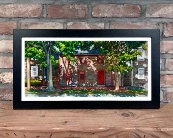 Art Print // NEW ENGLAND STREET - Oil Painting (Newburyport, Summer Afternoon)