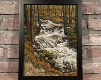 Art Print // FOREST STREAM - Oil Painting