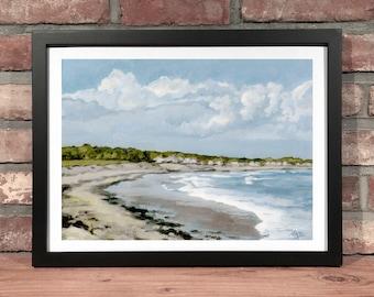 Art Print // RYE BEACH, NH - Oil Painting