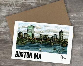 Greeting Card // BOSTON SKYLINE