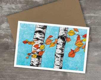Greeting Card // BIRCH TREES