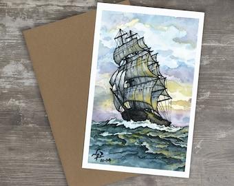 Greeting Card // CLIPPER SHIP