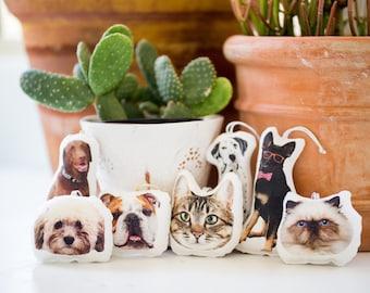 Custom Pet Ornament, Custom Christmas Ornament, Personalized Ornament, Cat Ornament, Dog Photo Ornament