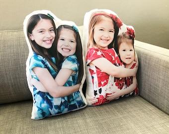 Personalized Human Pillow, Custom Christmas Day Gift, Under 50 dollars, Custom Made Keepsake, Long Distance Gift, Grandparents Gift