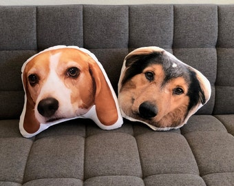 Personalized Dog Face Photo Pillow, College Student Gift, Pet Loss, High School Graduation Gift, Christmas Gift