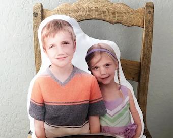 Custom Human Pillow, Custom Christmas Gift, Gifts for Grandparents, Long Distance Family, Grandkids, Kid Photo Pillow