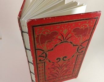 Notebook ancient cover Red Black Gold