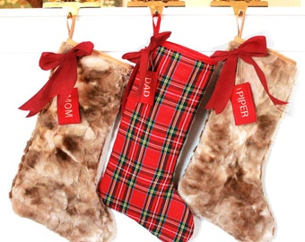 98674f8c754 Set of 3 Family Christmas Stockings