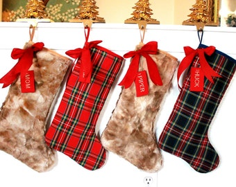 a982f268593 4 Family Christmas Stockings