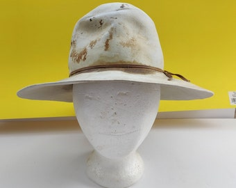 9aa637537f765 Vintage Stetson Size 4X Youth Child Boy Girl Beaver Cowboy Hat Small