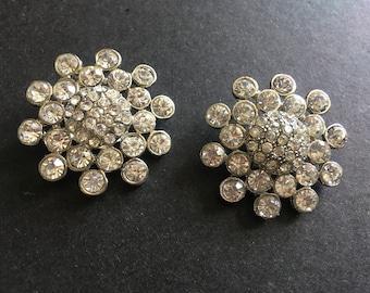 Round Swarovski Rhinestones Crystals Shoe Clips, Dance Shoe Clips, Bridal Bridesmaids Shoe Clips, Shoe Clips, Rhinestones Shoe Clips, Prom