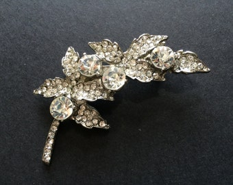 Swarovski Nature Rhinestones Crystals Wedding Bridal Bridesmaids Flower Girls Brooch Pin